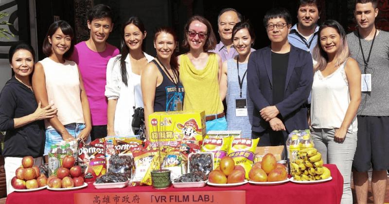 「陽光女神」Janet謝怡芬夫妻檔合體 參演全台第一部台法合資VR電影〈囍宴機器人〉